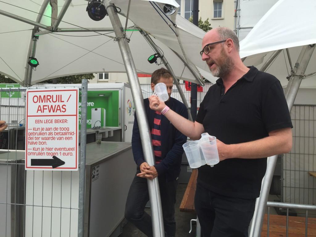 Herbruikbare bekers bij Boomtown Festival in Gent